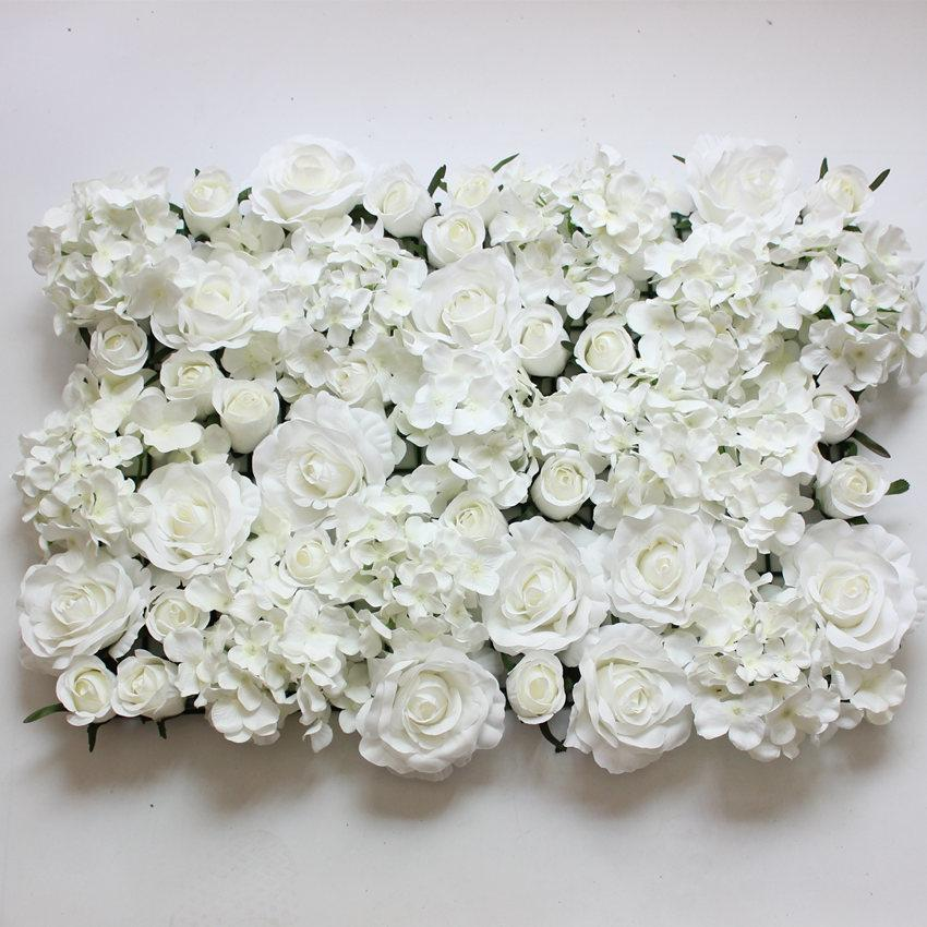 White artificial flower wall for wedding decoration silk hydrangea white artificial flower wall for wedding decoration silk hydrangea and rose mixed 60cm40 cm artificial flowers wall flower wall artificial flowers online mightylinksfo