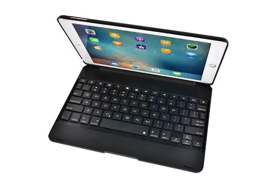 Ultra Ince Koruyucu Kılıf Için ipad Pro 9.7 inç Hava 2 Tablet PC Akıllı Kapak Kablosuz Bluetooth Klavye Durumlarda F19