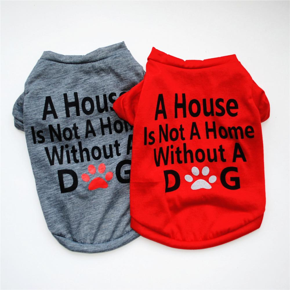 Cute Letter Printed Dog Vest Shirt 2018 Summer Pet Dog Clothes for Teddy Poodle Small Dogs Cotton Cats Puppy T-shirt Pet Apparel