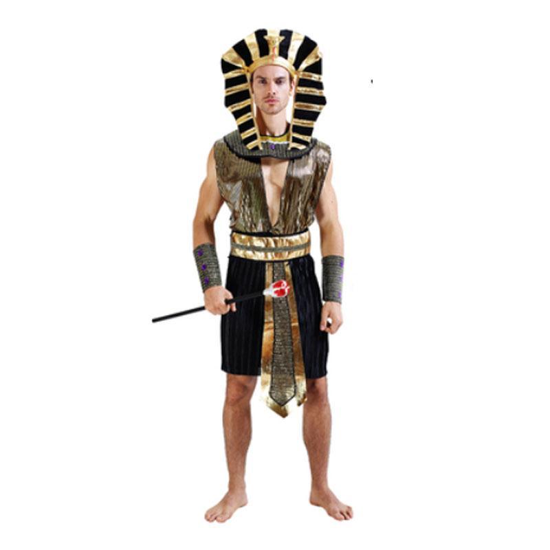 813dabdcb5f25 Acquista 2018 Uomini Elegante Egitto Faraone Cosplay Costume Uomo Adulti  Costumi In Maschera Feste Di Carnevale Di Halloween Forniture Purim A   38.09 Dal ...