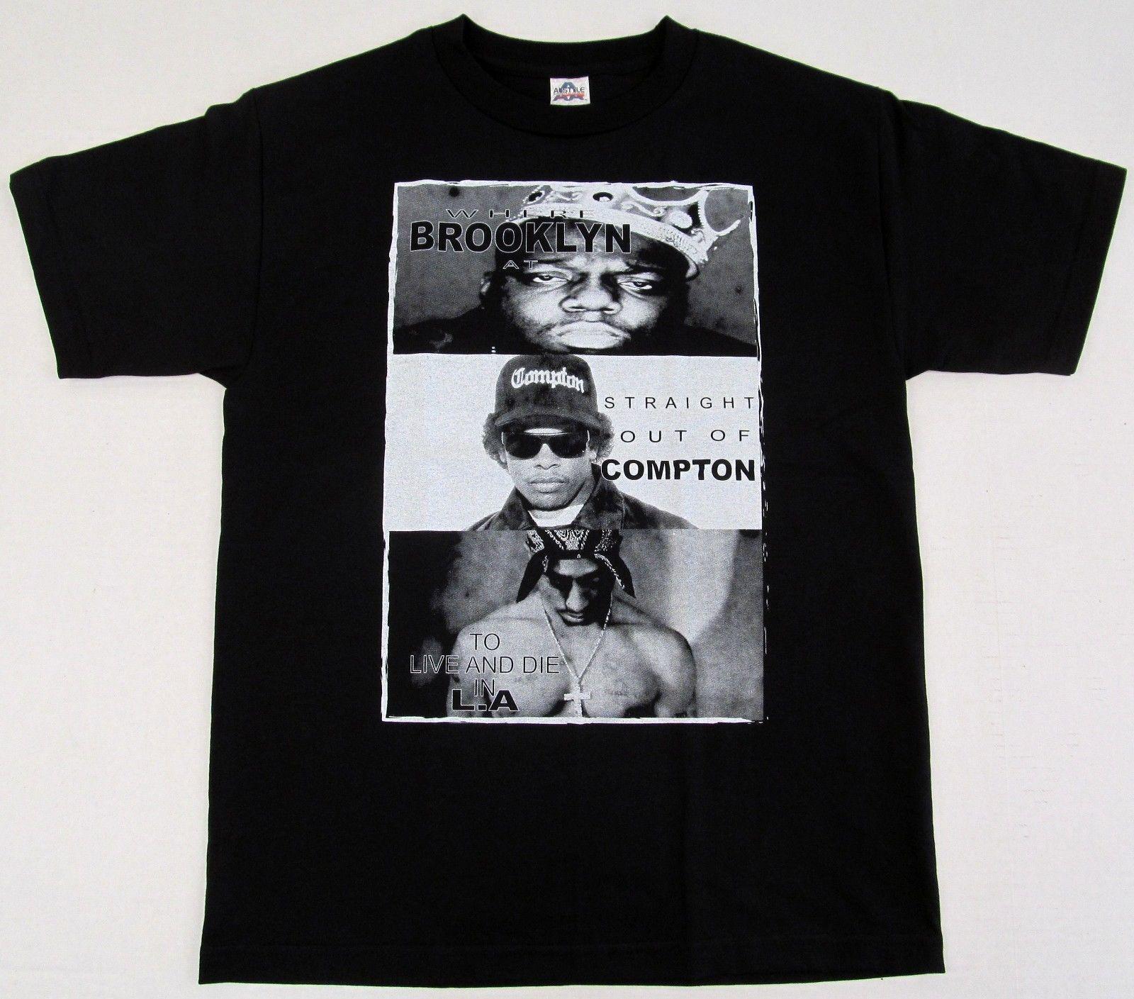 6715dae5b TUPAC BIGGIE EazyE T Shirt Hip Hop Rap Tee Notorious B.I.G. 2Pac Adult S 2XL  New Funny Vintage T Shirts T Shirts From Capoclothing42, $11.58| DHgate.Com