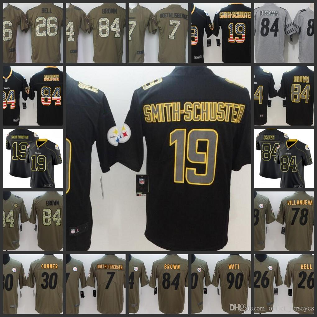 904d045c82e top quality juju smith schuster 19 pittsburgh steelers jersey 23a48 ...