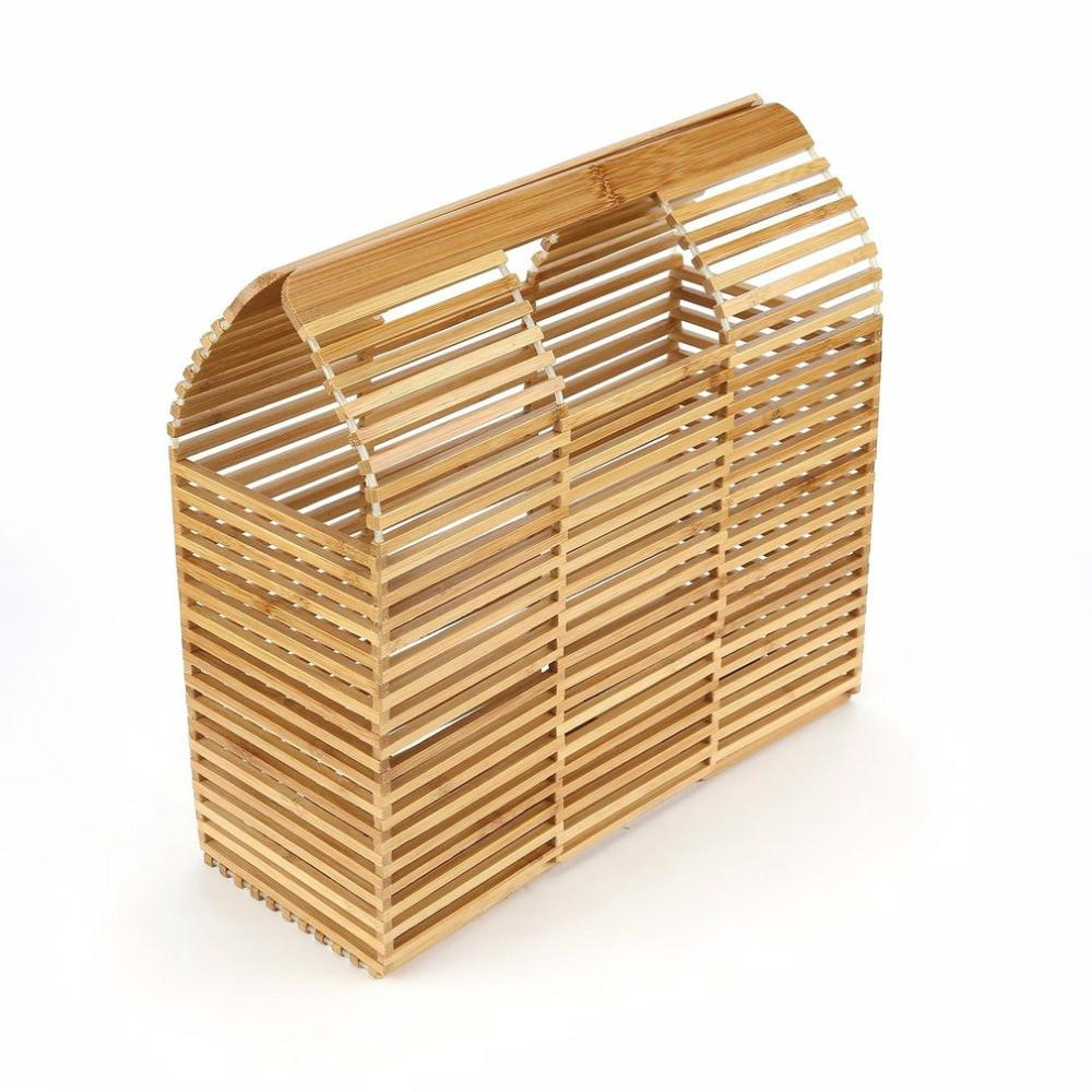 e4a17daa04 Luxury Designer Beach Bag Fashion Bamboo Bag Women Travel Straw Tote Clutch  Trunk Ladies Woven Handbags Online with  46.71 Piece on Topprettymall s  Store ...