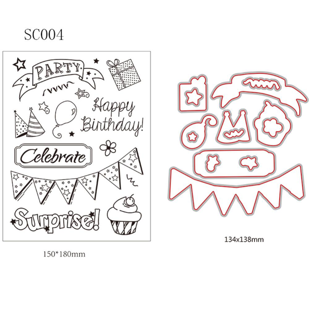 Party Series Cutting Dies Transparent Stamp Clear Stamp Diy ...