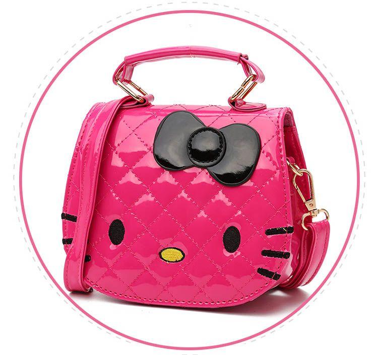 2018 New Year Gift Kids Purse Cat Children Cartoon PU leather Bag Crossbody Single Shoulder Bag Handbag Baby Mini Bag