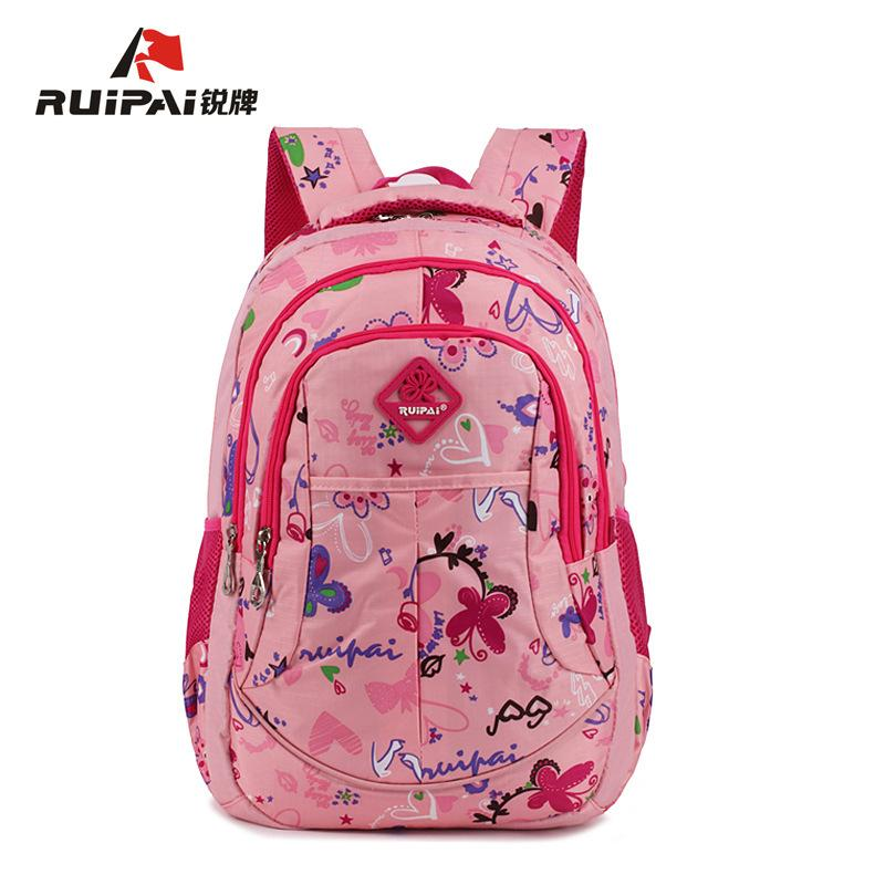 RUIPAI Polyester Kids Backpack Schoolbags Orthopedic Shoulder Bags For  Primary School Flower Girl Bags Backpack Fashion CA Y18120303 Kids Backpack  One Strap ... a40af31829