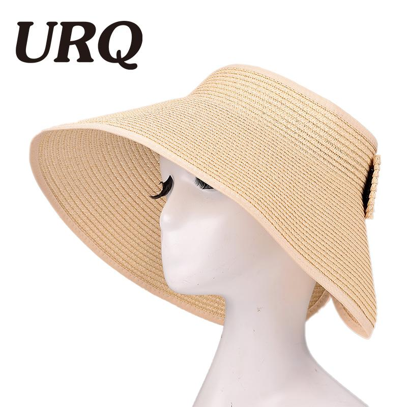11fb301fdfc Women Straw Hat Foldable Roll Up Sun Visor Wide Brim Bowknot Summer Beach  Hats ZZ4067 Mens Caps Crazy Hats From Juemin