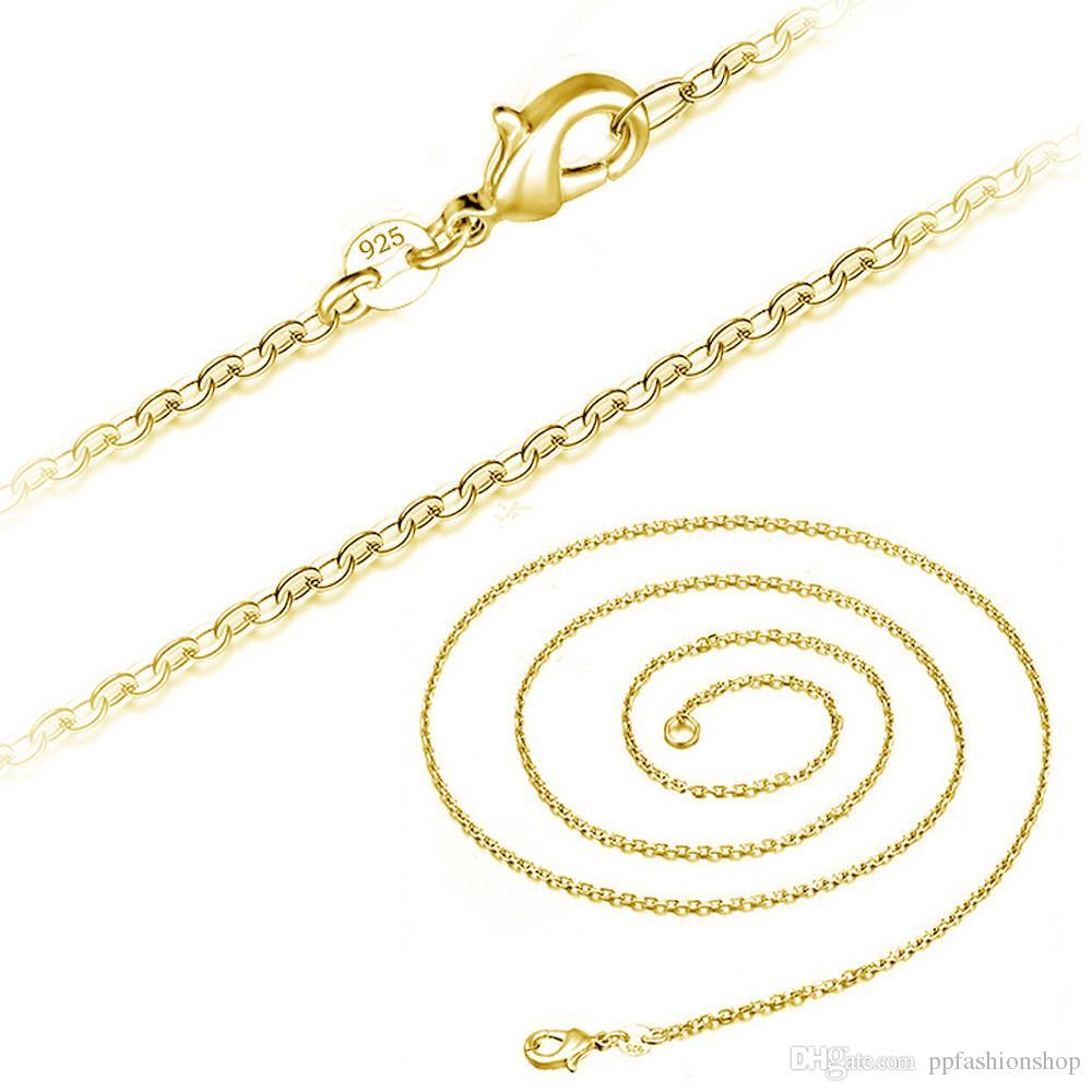 الكلاسيكية الأساسية سلسلة أزياء مطلي فضة الصليب سلسلة 925 الفضة مطلي المشبك جراد البحر فضة قلادة قابل للتعديل سلسلة الأزياء والمجوهرات