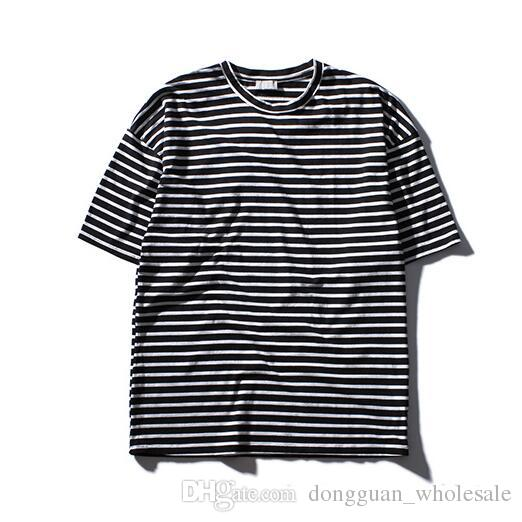 3a53444e Oversize Striped T Shirt Men Short Sleeve 2018 Summer Streetwear Basic T  Shirts Men Tee Designs Neck T Shirts From Dongguan_wholesale, $17.37|  DHgate.Com