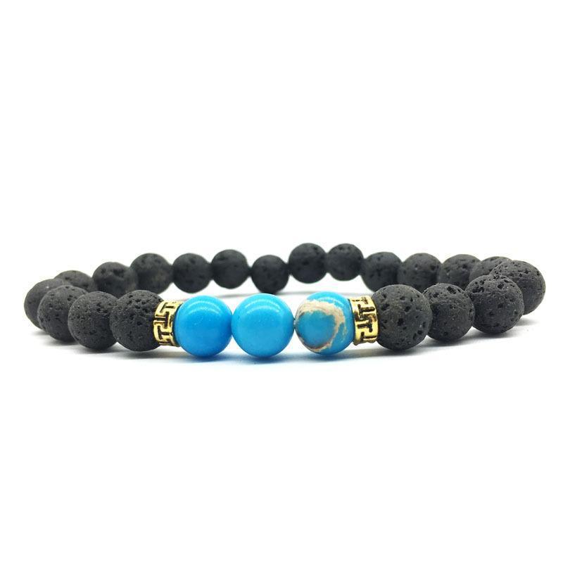 Men Aromatherapy 8mm Lava Stone Beads Bracelets DIY Essential Oil Diffuser Bracelet Women Rainbow Chakras Strand Jewelry