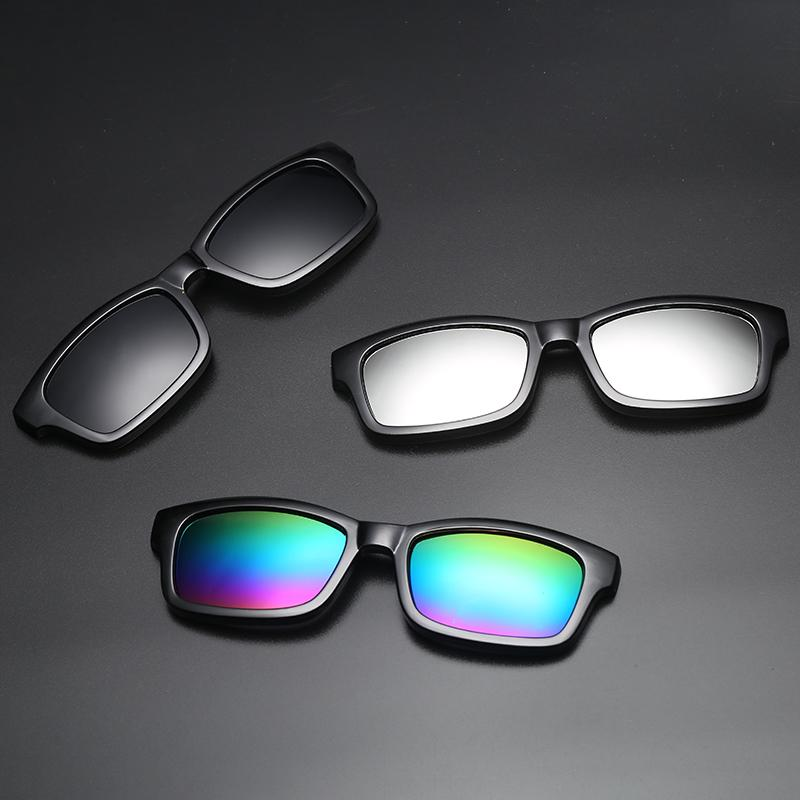 e14d1ba0d43 2018 Clip On Sunglasses Clip On Glasses Square Lens Men Women Mirror Sun  Glasses Night Vision Driving Sunglasses For Men Sunglasses Brands Best  Sunglasses ...