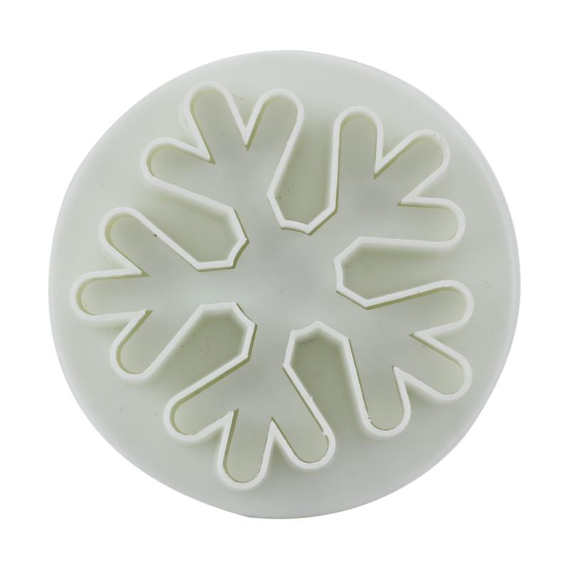 Wholesale- 3 Pcs Snowflakes Cake Decorating Mold Plunger Cutter Fondant Cake Decorating Baking Tool Mould