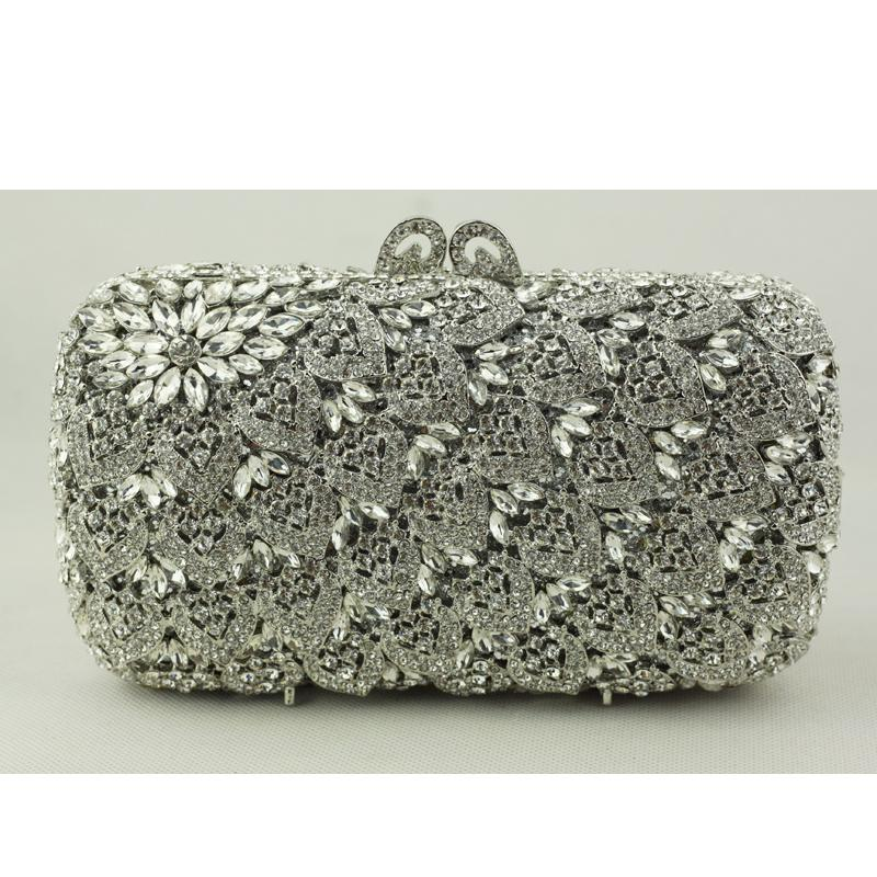 aa990be164 Top Quality Designer Hand Bag For Women Brides Square Silver Crystal  Evening Clutch Bag With Chain Bridal Wedding Clutch Designer Handbag Cute  Handbags From ...