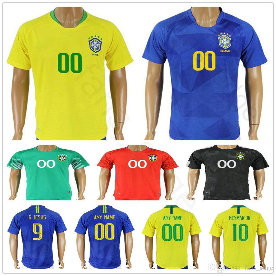 Compre 2018 Copa Do Mundo Brasil Camisas De Futebol 3 T.SILVA 4 DAVID LUIZ  7 COSTA 15 DANIEL ALVES Homens Mulheres Crianças Juventude Camisa De Futebol  De ... eb4b08c76fdff