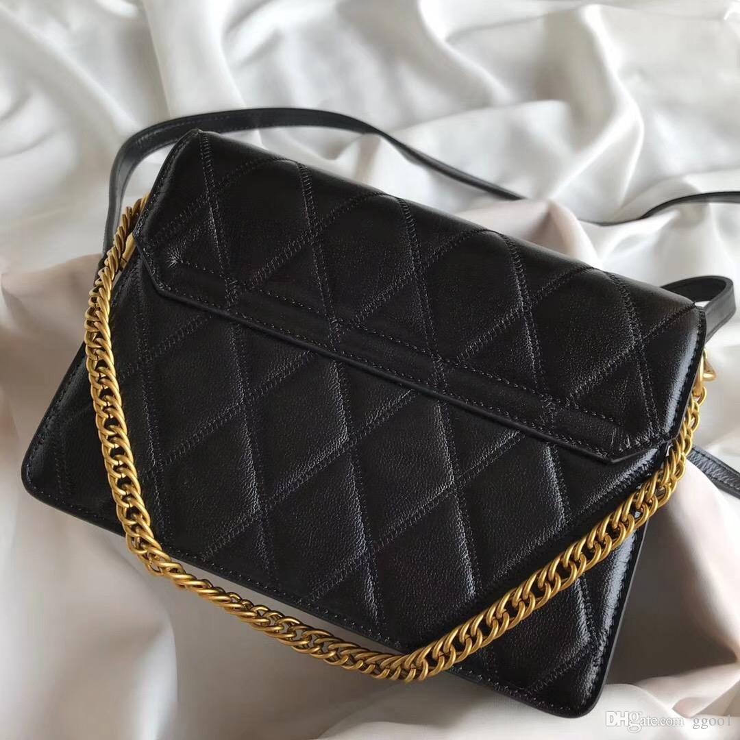 53dde5f761295 7A hochwertige GV helle lammfell designer handtaschen 2018 neue mode echtes leder  naht goldkette crossbody umhängetasche einkaufen