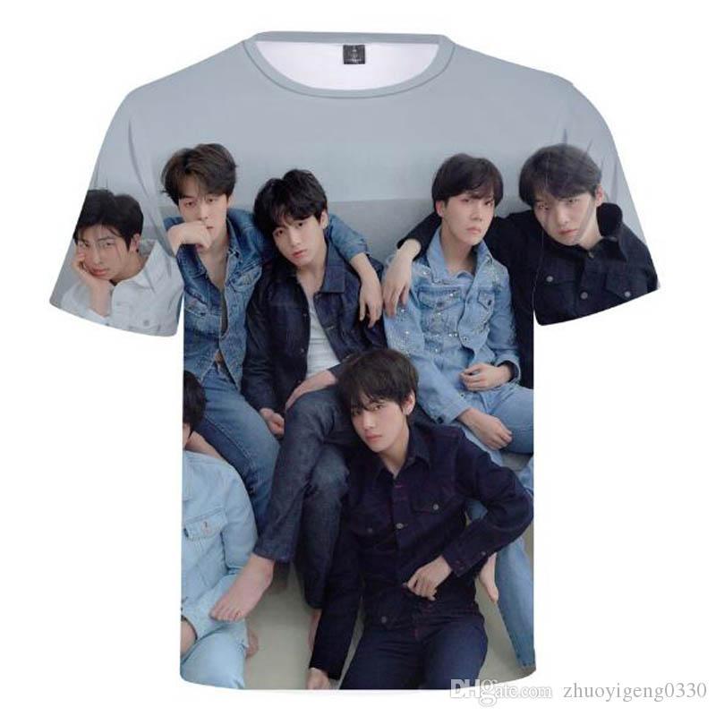 70383ce629b0 2018 Hot BTS Kpop Bts Album T Shirt BTS LOVE YOURSELF Tears 3D Casual Print  T Shirt MEN WOMEN Short Sleeved T Shirt Hip Hop Street Clothing T Shirts  Online ...