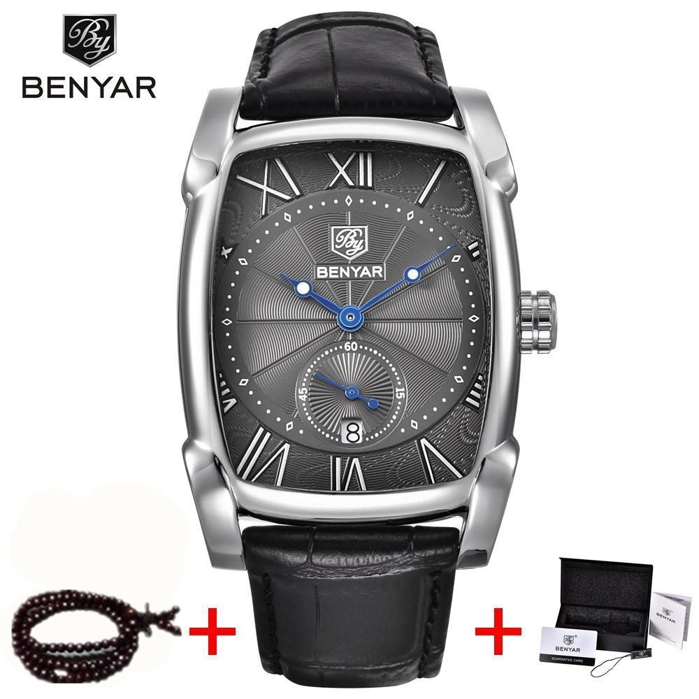 Quarz-uhren Benyar 2018 Neue Uhren Männer Luxury Top Marke Chronograph Datum Sport Edelstahl Quarz Mann Uhr Mens Relogio Dropshipping Preisnachlass Uhren