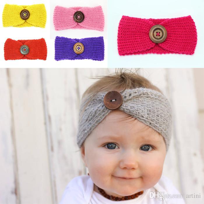 Großhandel Häkeln Knitting Stirnband Handmade Wolle Geflochten Baby
