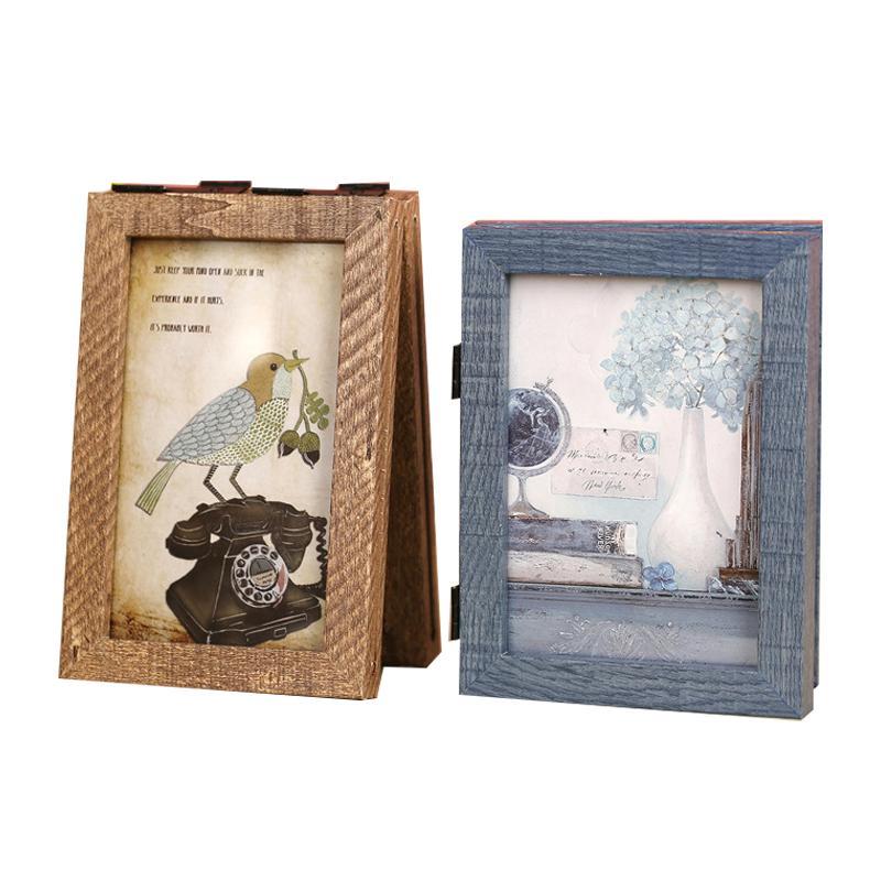Modern Photo Frame Square Wood Frame Wooden Crafts Desktop Decor ...