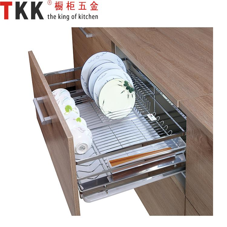 TKK TOT 600 900B Cabinet Hardware Drawer Basket For Dishes Soft Stop Four