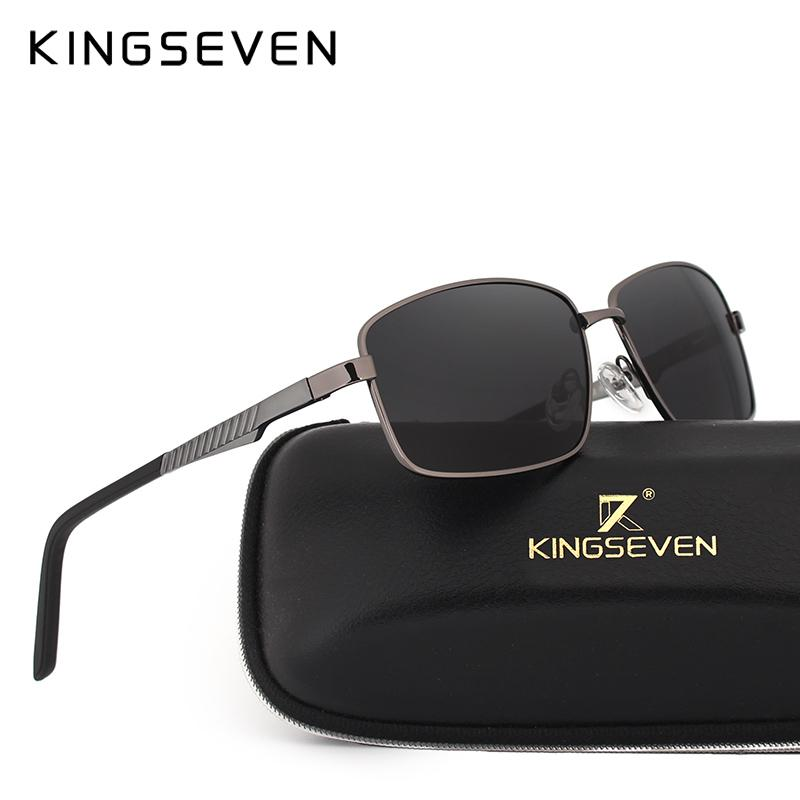 e650795a6d0 KINGSEVEN 2017 Fashion Men s UV400 Polarized Sunglasses Men s Mirror  Rectangular Sunglasses Accessories N7600 Glasses Frames Glasses Online From  Fragmentt