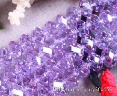 100 pezzi eleganti perle di cristallo viola gemme sciolte 6 mm