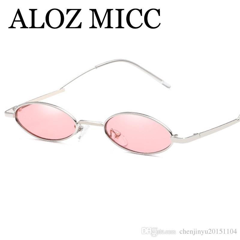 dd20ffaf394 ALOZ MICC 2018 New Oval Sunglasses Women Brand Designer Unique Curved Leg  Trend Women Round Sun Glasses UV400 Goggles A527 Suncloud Sunglasses Foster  Grant ...