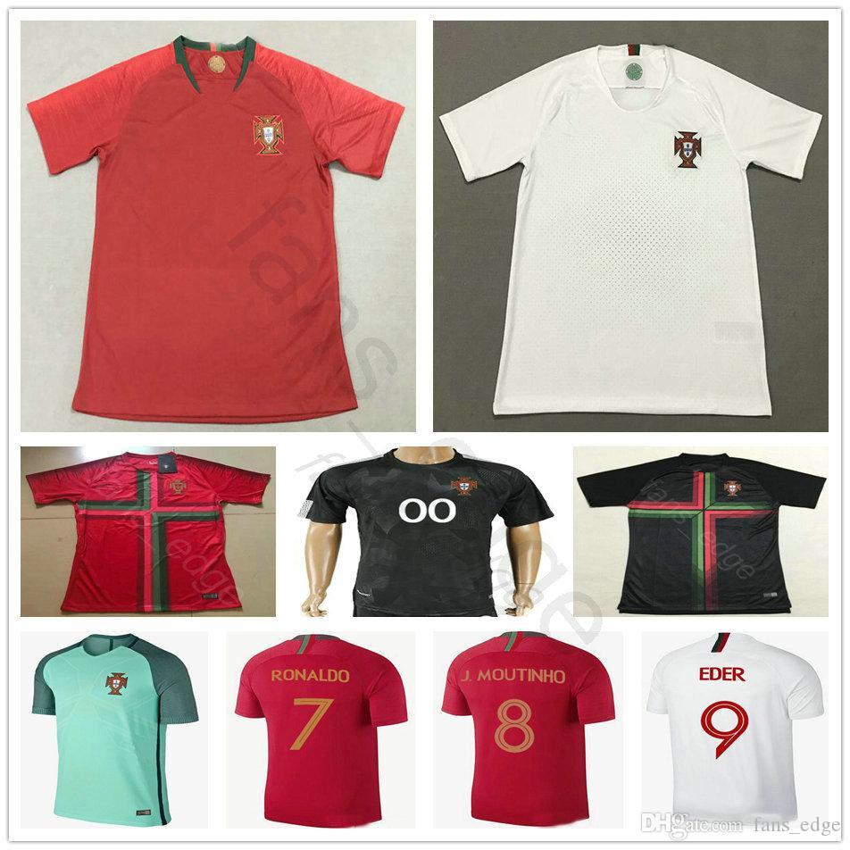 f8b2bc7531 2018 Copa Del Mundo Portuguesa Soccer Jerseys CR7 Ronaldo 8 J.MOUTINHO 10  DANNY 11 VIEIRINHA LOPES PEREIRA Hombres Mujeres Niños Youth Football Shirt  Por ...