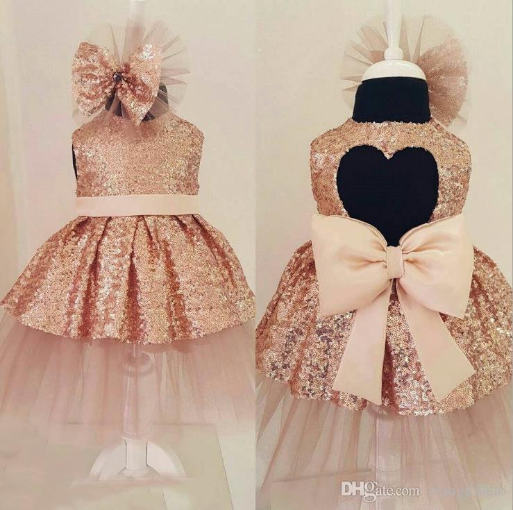 8e43c38c535e 2018 Flower Sequins Princess Dresses Toddler Girls Summer Halloween ...