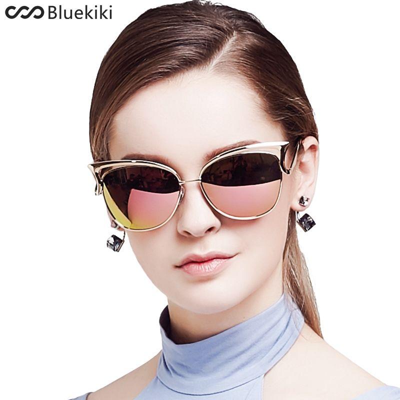 53d9e8dac0 KIKI Women Sunglasses Polarized Retro Cat Eyes Metal Driving Gold Sun  Glasses Brand Designer UV400 Oculos De Sol Feminino Round Glasses Designer  Glasses ...