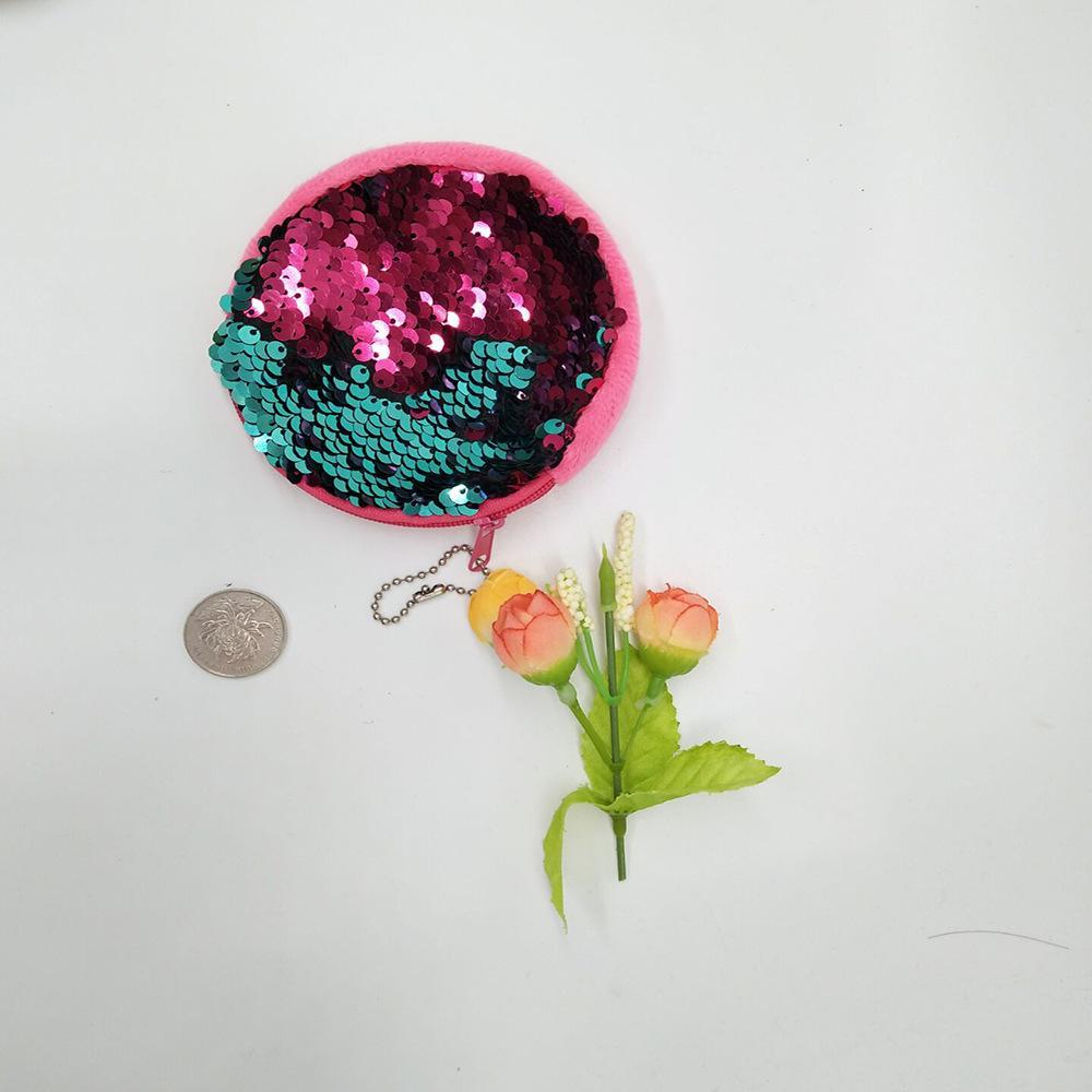 Monedero de sirena con lentejuelas Mermaid Glitter 10cm Bolso de noche con billetera es Bolso de bebé con regalos Chirstmas LC665