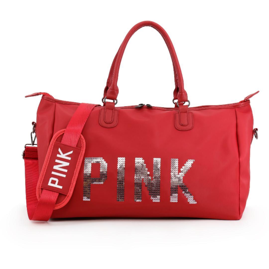 Rojas 2018 Letters Gimnasio Las Pink Compre Nuevas Lentejuelas YS1vI
