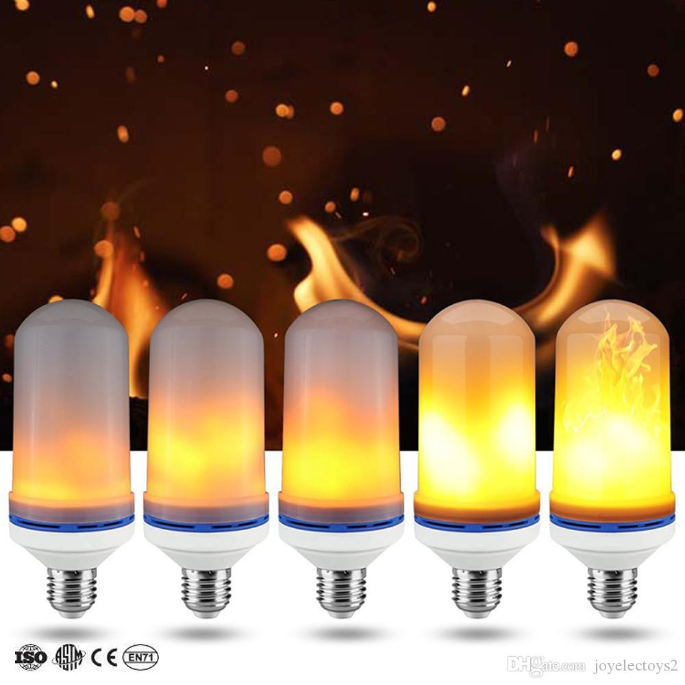 LED flame E27/B22/E14 SMD2835 99LEDs fire lamp 9W AC85-265V 1800-2200K third gear mode simulation flame dynamic light