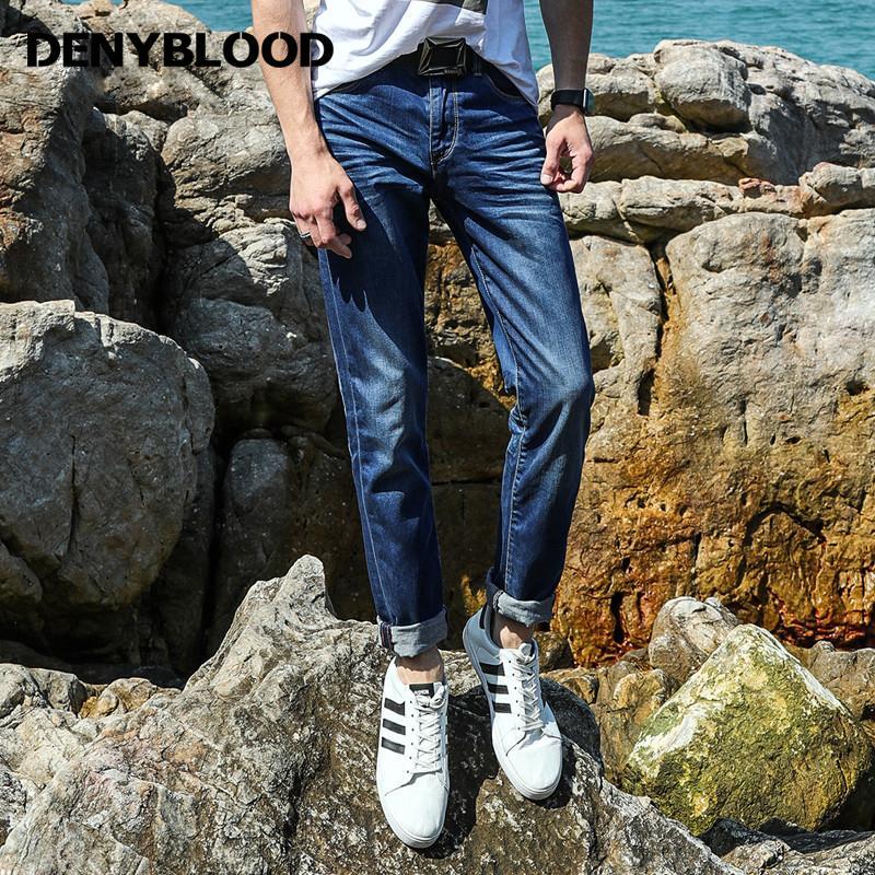 f19c233396cb7 2019 Denyblood Jeans 2017 Summer Light Weight Tencel Denim Mens ...