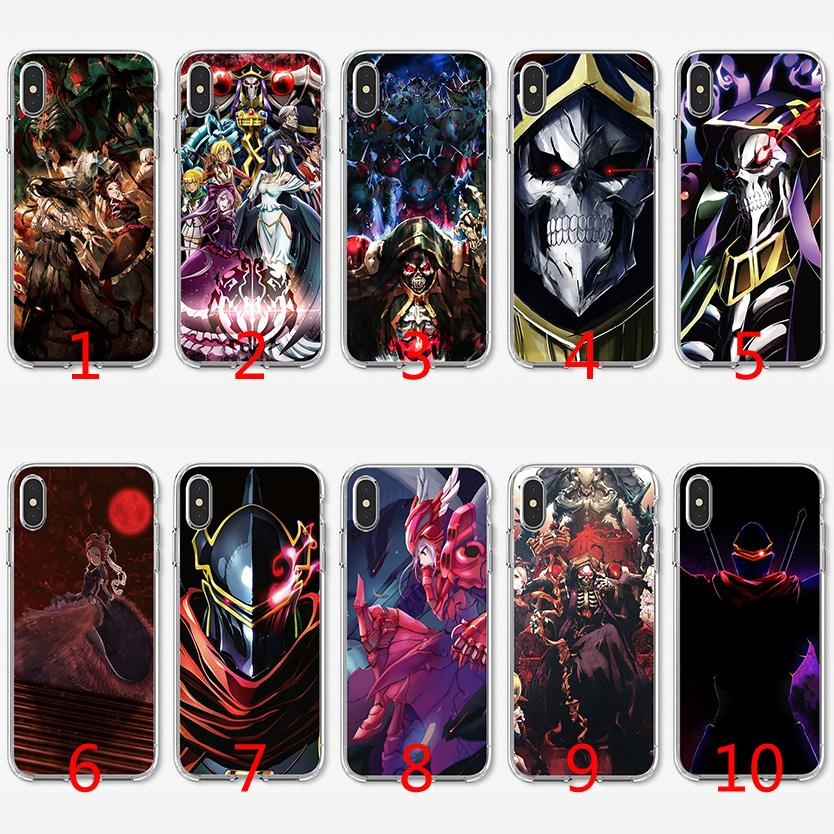 buy popular 8a96d ee854 Overlord Japan Anime Soft Silicone TPU Case for iPhone X XS Max XR 8 7 Plus  6 6s Plus 5 5s SE Cover