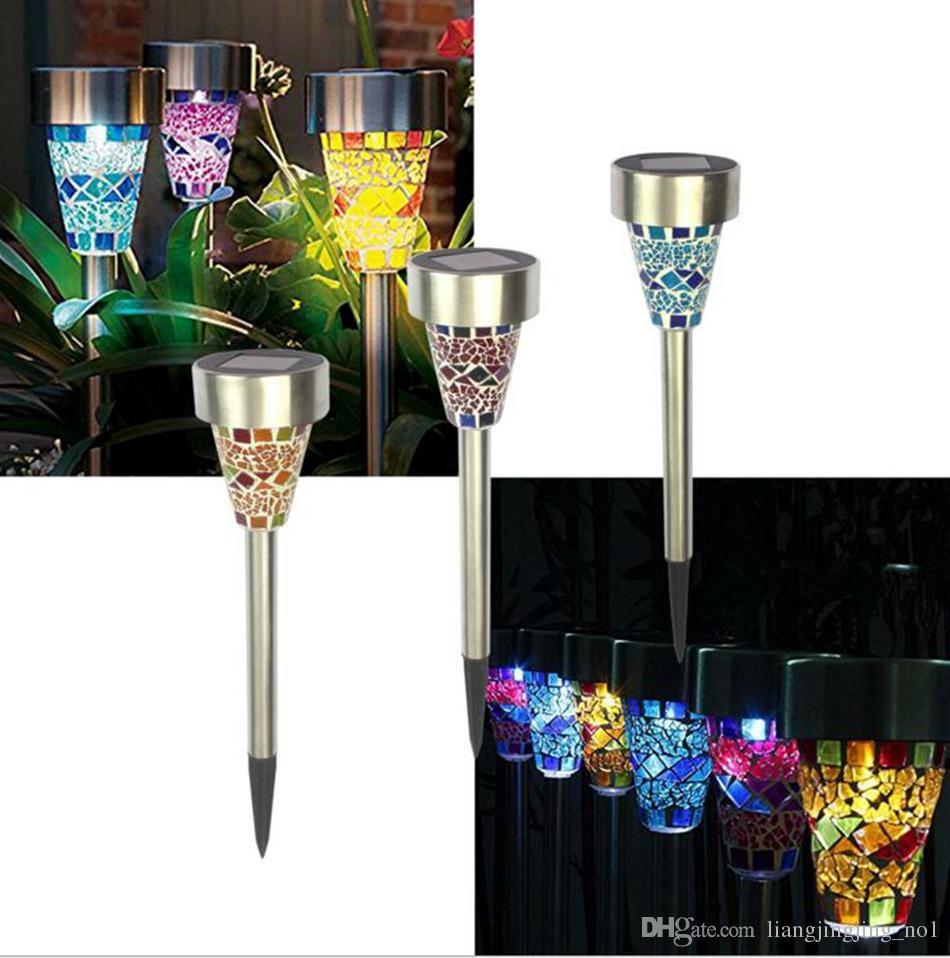 Mozaik Güneş Çim Işık LED Yolu Renklendirme Işık Açık Bahçe Çim Spot Lamba Açık Bahis Işıkları OOA4341