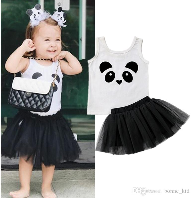 2018 Cartoon Panda Kids Girls Dresses Outfit Clothes Two Piece Set Vest + Skirt Baby Clothing Sundress Party Summer Princess Baby Dress 6m 4y From Bonne_kid ...  sc 1 st  DHgate.com & 2018 Cartoon Panda Kids Girls Dresses Outfit Clothes Two Piece Set ...