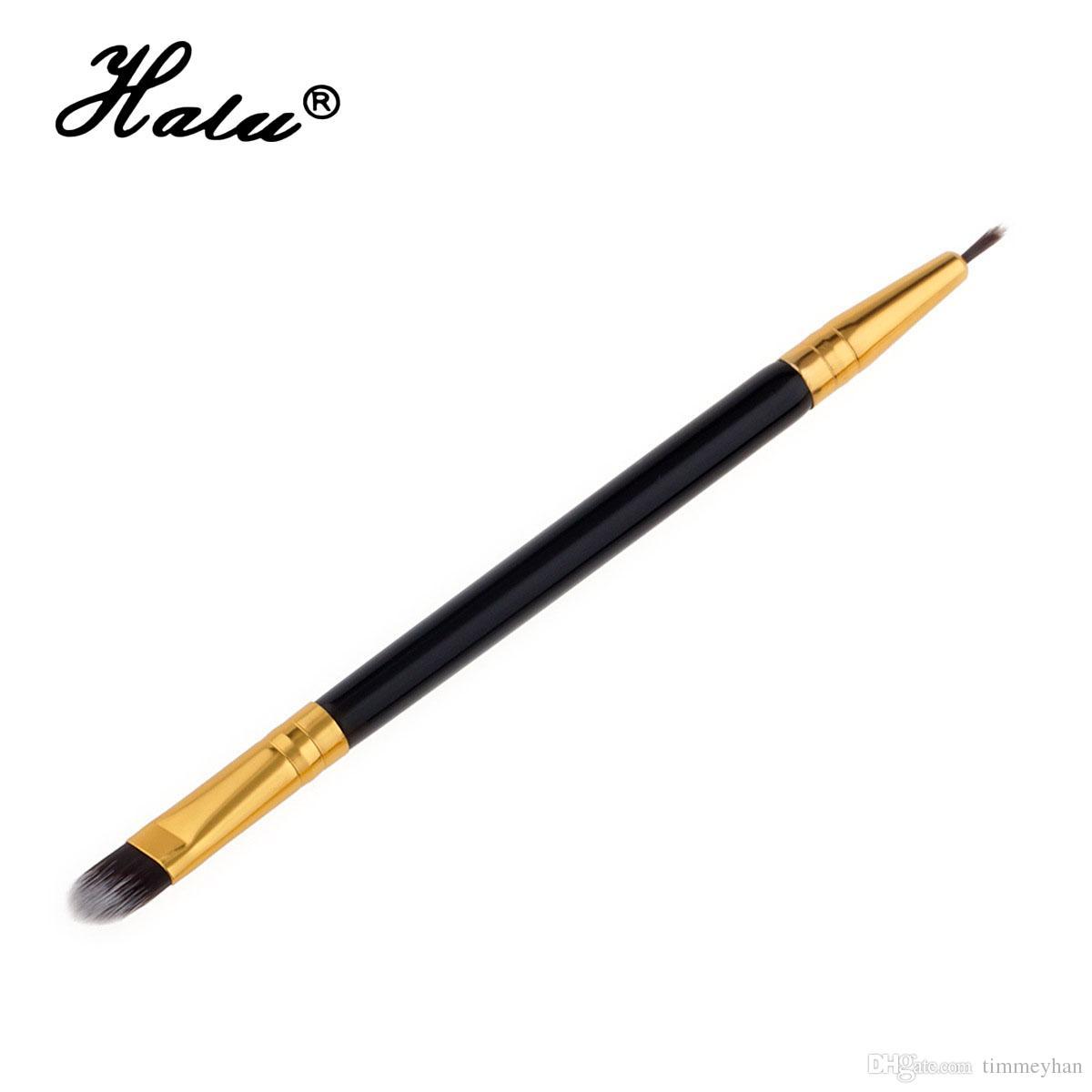 Halu double end eyebrow makeup brushes single eyelash make up brushes professional maquillage cosmetic powder lip eyeliner brush