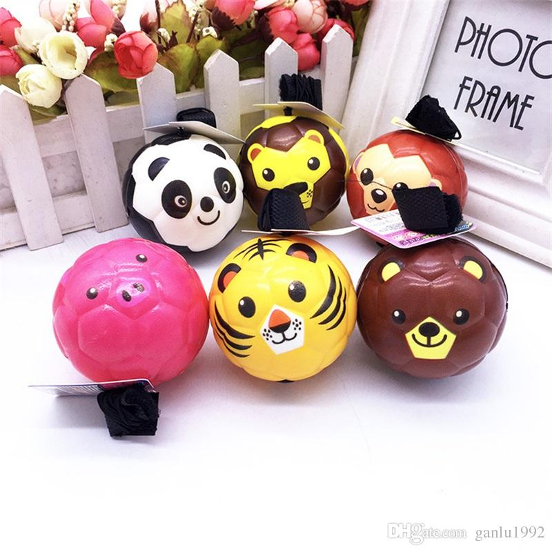 Children Toy Emoji Ball Multi Pattern Animal Cartoon Spongy Rubber Balls Elastic Force Gift For Fun 2 2lc W