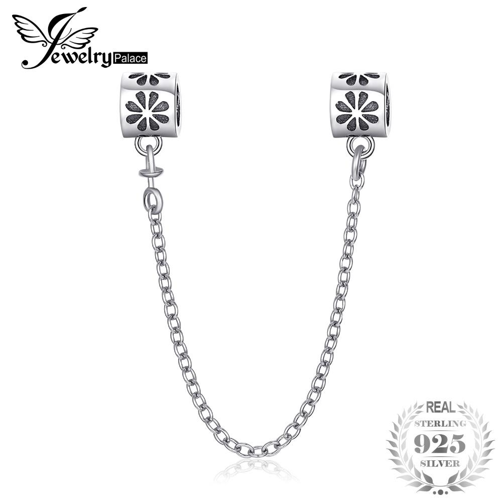 101ba13ab6086 Jewelrypalace Silver Flower Safety Chain 925 Sterling Silver Gifts ...