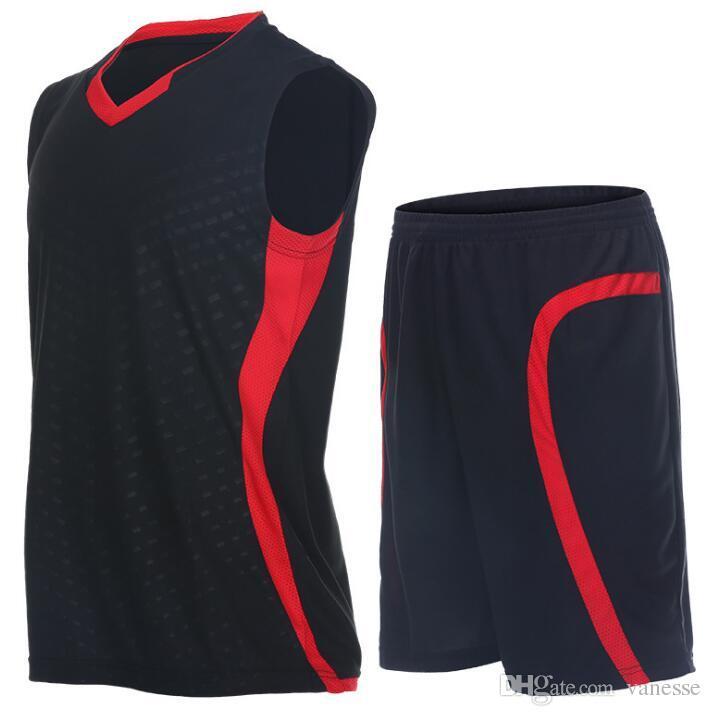 a04a58e47d Compre Homens Fato De Treino Uniformes De Basquete Sports Sportswear  Formação Basquete Jerseys Define Roupas Camisa Colete Sem Mangas Ternos  Shorts De ...