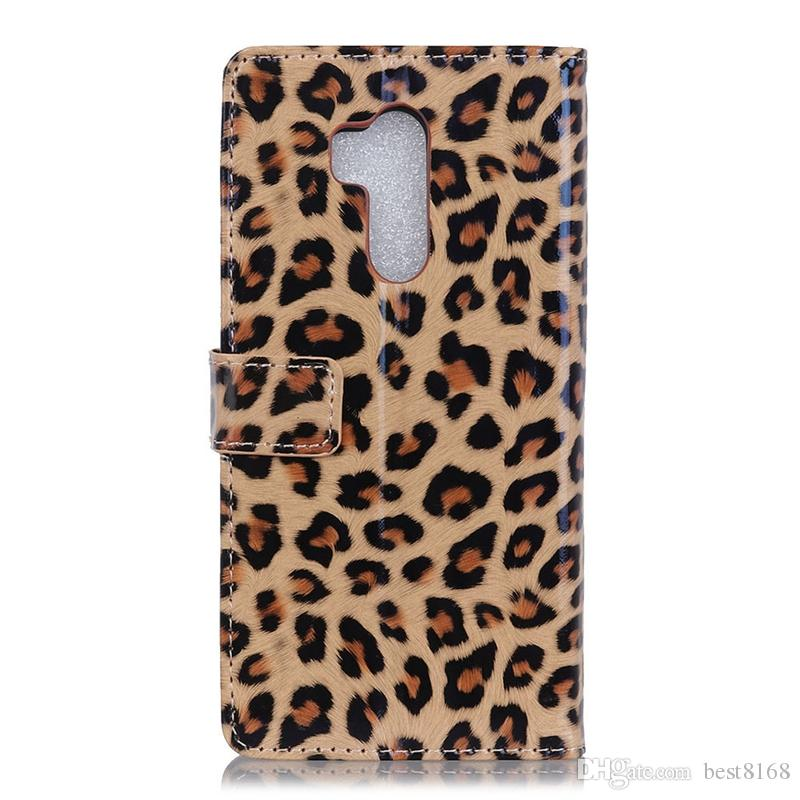 For LG G7,For Huawei Honor 10,Samsung Galaxy A6 Plus Leopard Animal Leather Wallet Case Card Slot Holder Flip Cover Skin Cell Phone Pouches