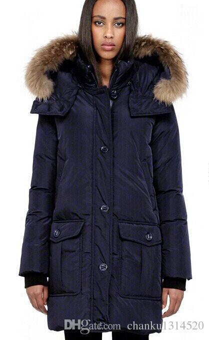 F4 Piel De Cha A406 Abrigos Mujer Chaqueta Para Mac Abrigo Marca La Invierno Real Parkas Plumón Pato Mapache 08dAwzAq