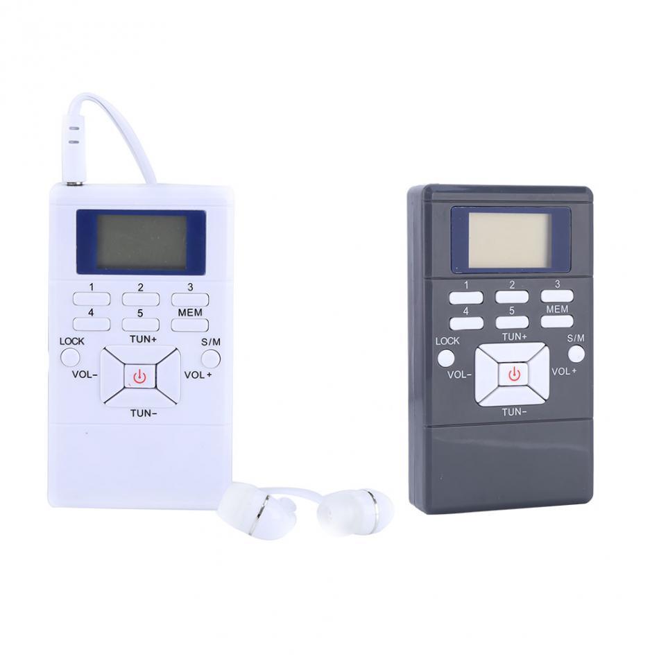 Freeshipping Mini Affichage LCD Portable Radio FM Traitement du signal numérique Récepteur sans fil avec des écouteurs