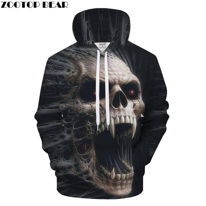 bd99268143fdb0 Terrior 3D Skull Hoodies Men Hoody Printed Tracksuit Casual ...