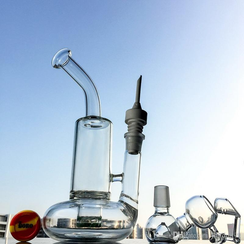 Clear Tornado Bong Dab Oil Rigs Water Pipes Turbine Perc Smoking Glass Water Bongs Waterpipe With 18mm Joint WP146-1