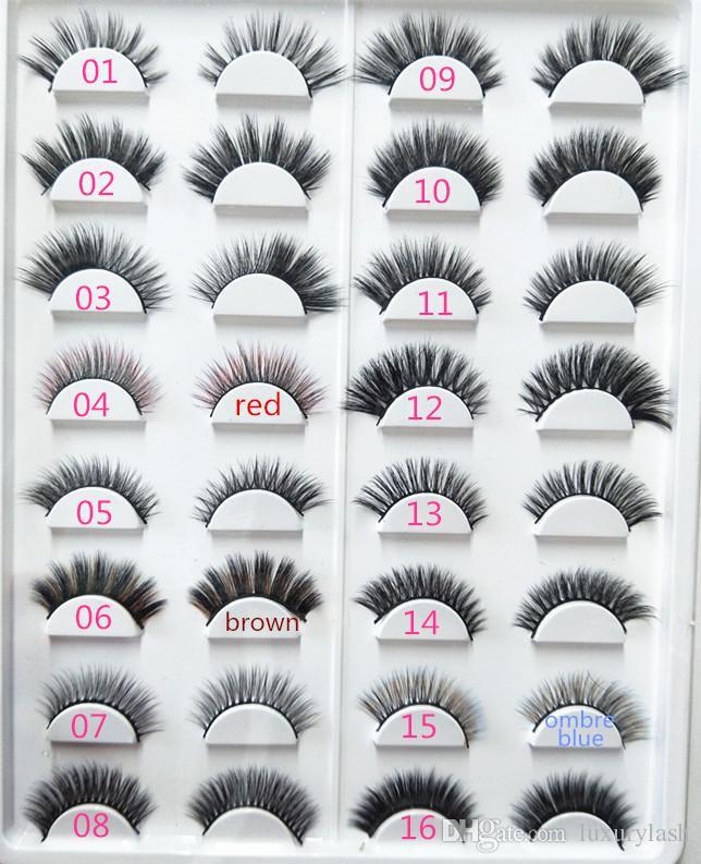 Seashine Natural mink hair eyelashes 3d mink eyelashes false eyelashes Mink strip lashes with private label