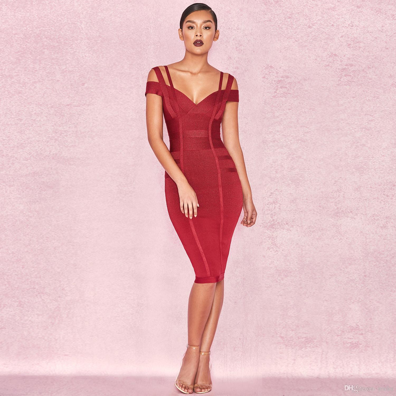 Grosshandel 2018 Frauen Party Bandage Kleid Olivgrun Aus Der Schulter Atemberaubende Prom Prom Sexy Bodycon Kleid Von Amika 32 85 Auf De Dhgate Com Dhgate