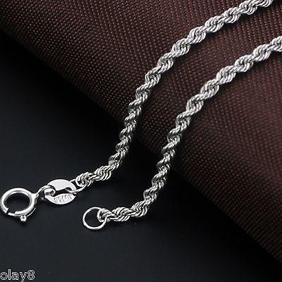 81d8346df0f9 Compre Nuevo Pure Au750 18K Cadena De Oro Blanco Para Mujer Collar De  Eslabones De Cuerda De 1.9mm 22 Pulgadas A  226.85 Del Lbdwatches