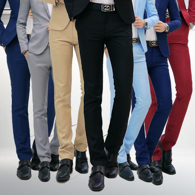 2ed7e870cb5 2018 Foreign Trade Mens Business Suit Fashion Tide Men Pure Color ...